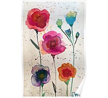 Taylor Swift - Watercolor Flowers Poster