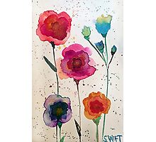 Taylor Swift - Watercolor Flowers Photographic Print