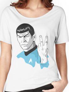 Star Trek Spock obscene hand gesture Women's Relaxed Fit T-Shirt