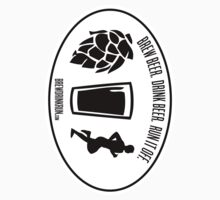 Brew / Drink / Run Oval Sticker by Brew Drink Run