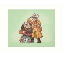 Back to the Future Trick or Treat Art Print