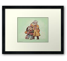 Back to the Future Trick or Treat Framed Print