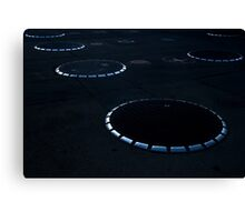 Unidentified Fuel Objects - Monochrome Canvas Print