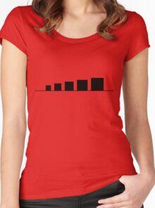 99 Steps of Progress - Minimalism Women's Fitted Scoop T-Shirt