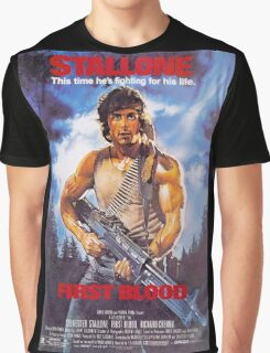 Rambo: First Blood - Promotional Poster Graphic T-Shirt