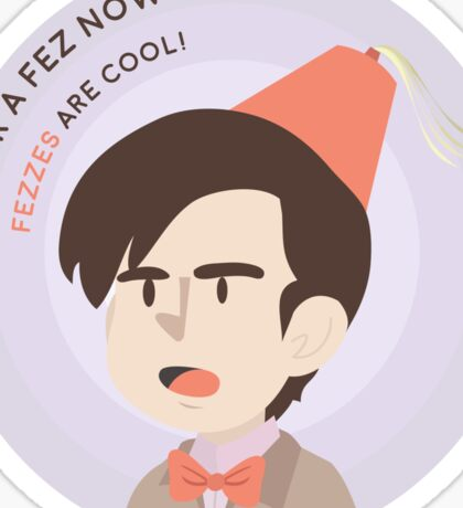 Fezzes are cool! Sticker