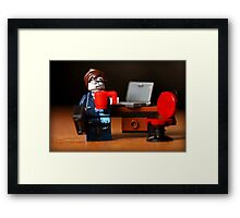 Office Zombie Framed Print