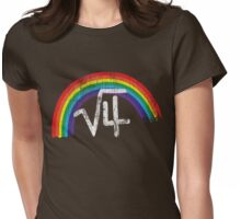 Square Root of Four is Rainbows Womens Fitted T-Shirt