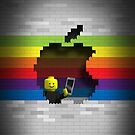Lego Retro Rainbow Apple Logo by Alisdair Binning