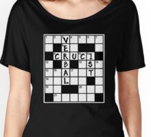 CRUCIVERBALIST Crossword Puzzle Lovers Women's Relaxed Fit T-Shirt