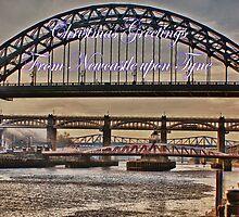 Christmas Greetings From Newcastle by Giorgio Elesaro