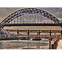 Christmas Greetings From Newcastle Photographic Print