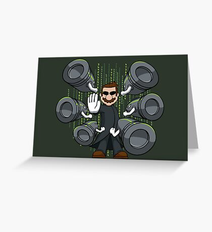 Bullet Time Bill Greeting Card