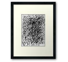 5 F Framed Print