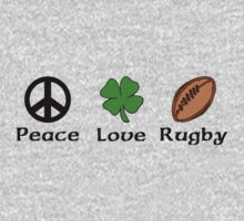 Peace Shamrock Rugby Kids Clothes