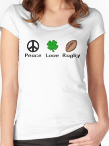 Peace Shamrock Rugby Women's Fitted Scoop T-Shirt