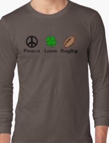 Peace Shamrock Rugby Long Sleeve T-Shirt