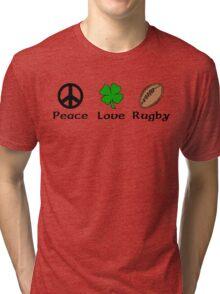 Peace Shamrock Rugby Tri-blend T-Shirt