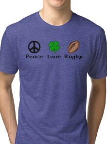 Peace Shamrock Rugby Tri-blend T-Shirt