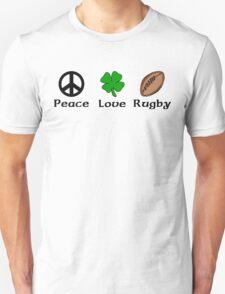 Peace Shamrock Rugby Unisex T-Shirt