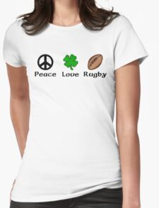 Peace Shamrock Rugby Womens Fitted T-Shirt