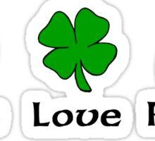 Peace Shamrock Rugby Sticker