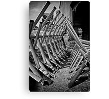 The Exes B/W Canvas Print