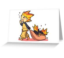 Cyndaquil Greeting Card