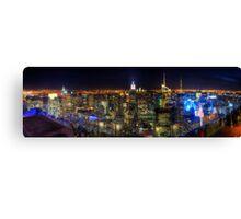 Manhattan Nite Lites Panorama Canvas Print