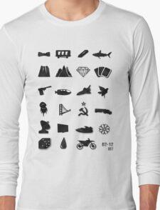 50 Years of James Bond Long Sleeve T-Shirt