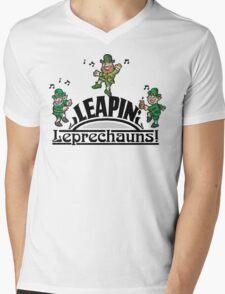 Leaping Leprechauns Mens V-Neck T-Shirt