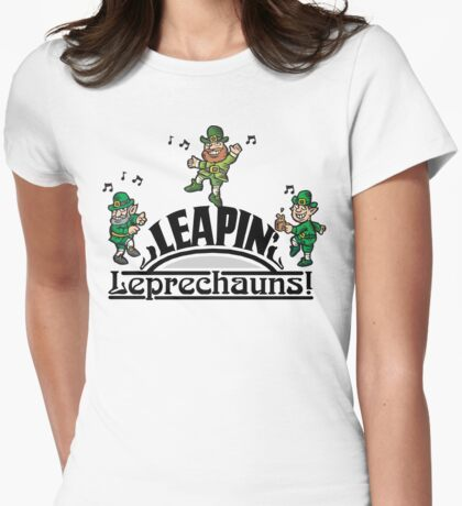Leaping Leprechauns Womens Fitted T-Shirt