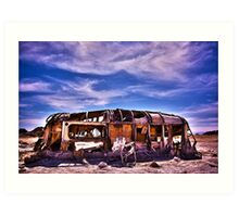 Abandoned RV at The Salton Sea Art Print