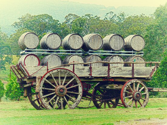 Barrel Cart by Sharon Brown