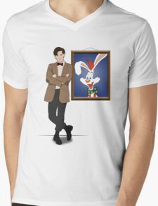 Doctor Who Framed Roger Rabbit Mens V-Neck T-Shirt