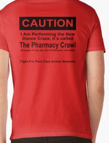 Caution Protest T-shirt Mens V-Neck T-Shirt