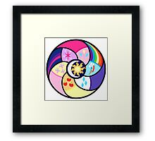 The elements of harmony Framed Print
