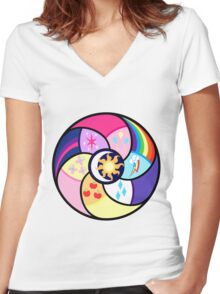 The elements of harmony Women's Fitted V-Neck T-Shirt