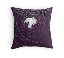 magical white owl  Throw Pillow