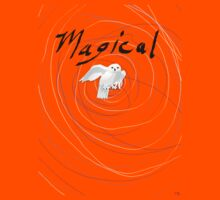 magical white owl  Kids Tee
