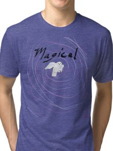 magical white owl  Tri-blend T-Shirt