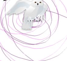 magical white owl  Sticker