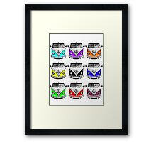 Volks Warhol on White (also available as transparent square) Framed Print