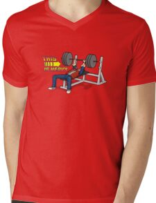 This is HEAVY!!! Mens V-Neck T-Shirt