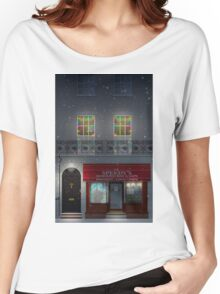 Sherlock Speedy's Cafe christmas Women's Relaxed Fit T-Shirt