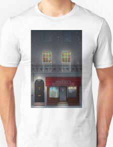 Sherlock Speedy's Cafe christmas T-Shirt