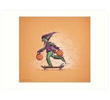 Green Goblin Trick or Treat Art Print