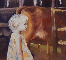 Litle Girl Visiting the Dairy by Jaana Day