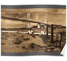 BAY BRIDGE 1945, SAN FRANCISCO Poster