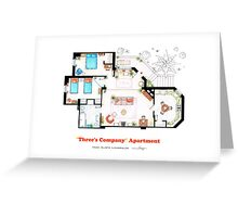 Three's Company Apartment Floorplan Greeting Card